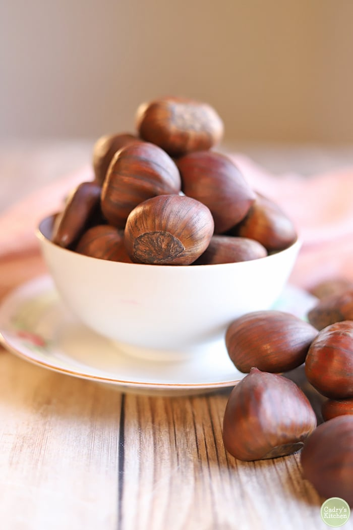 Chestnuts in a bowl.