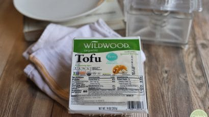 Wildwood tofu in package with tofu press.