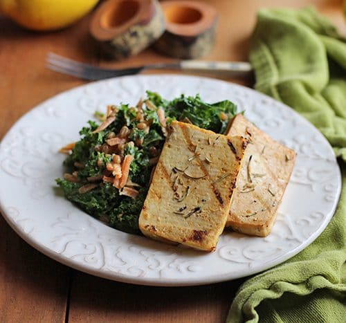 Grilled Tofu With Lemon Rosemary Cadry S Kitchen