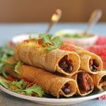Baked taquitos with sweet potatoes – air fryer or oven!