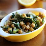 Roasted asparagus recipe with chickpeas & spinach