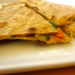 Light & Creamy Squash Blossom Quesadillas