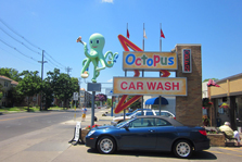 Octopus Car Wash with huge octopus figure.