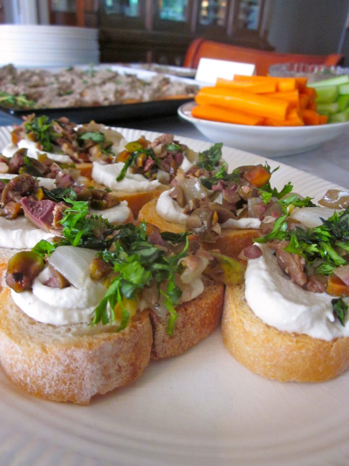 Vegan party appetizers for a Poetry Night - with a poem for each dish!