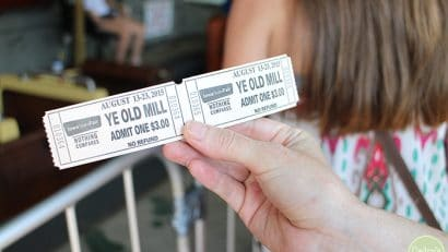Ye Old Mill ticket at Iowa State Fair.
