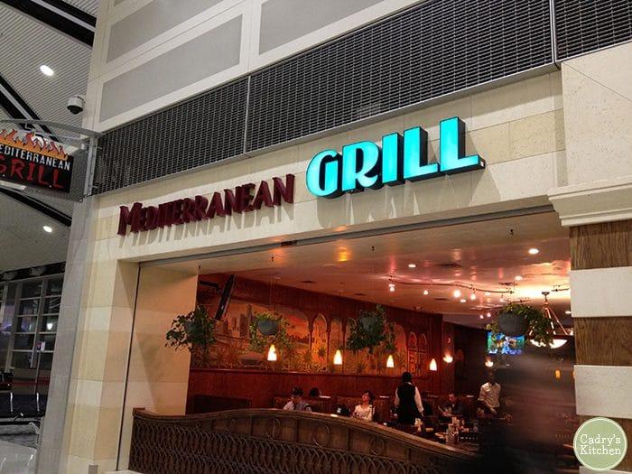Restaurant exterior in Detroit Airport.