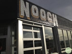 Exterior Nooch Vegan Market in Denver, Colorado.