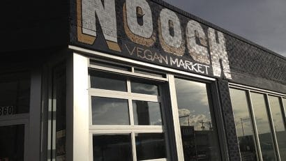 Exterior Nooch Vegan Market in Denver, Colorado.