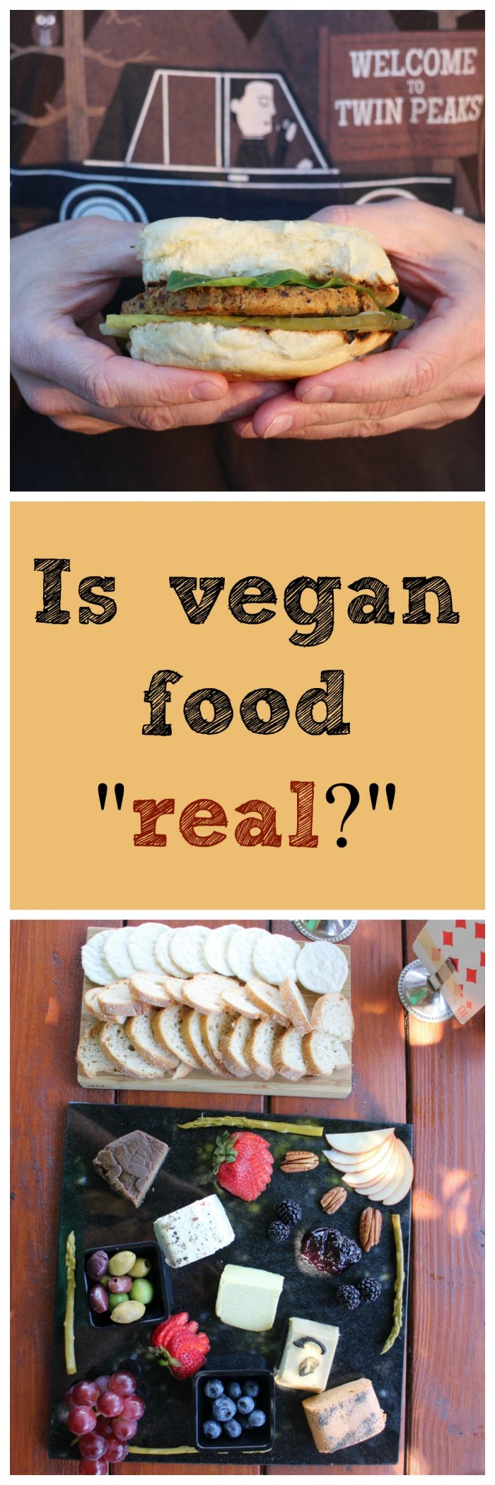 """Some people argue that vegans need to come up with their own names for plant-based meat, milk, and cheese. They say vegan versions aren't """"real."""" In actuality, it's common to draw comparisons in language. Peanut butter is spreadable, coconut milk is a creamy beverage, spaghetti strap dresses have skinny straps... 