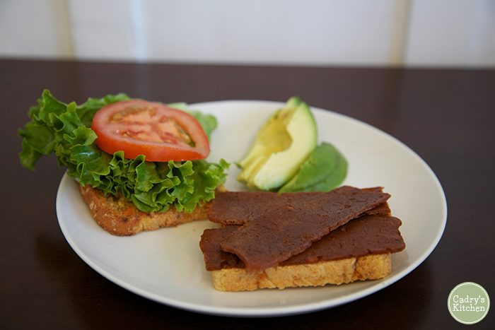 Review: Upton's Naturals seitan bacon. It's the perfect chewy protein for your vegan BLT. | cadryskitchen.com