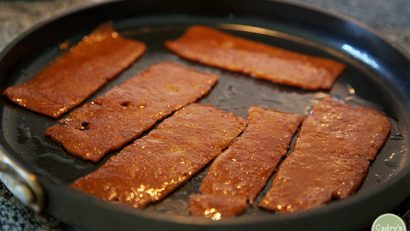 Review: Upton's Naturals seitan bacon. It's the perfect chewy protein for your vegan BLT.   cadryskitchen.com