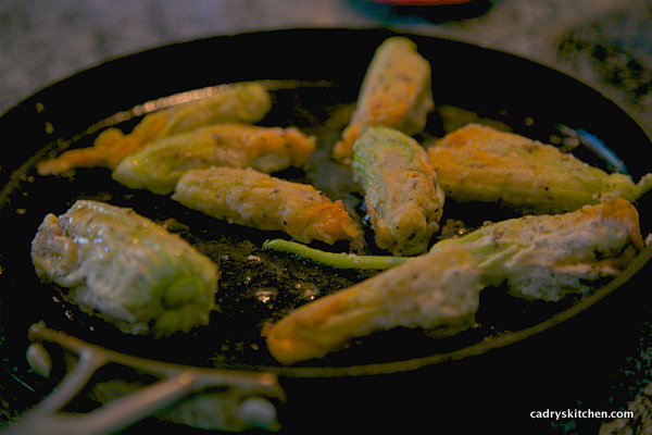 frying squash blossoms