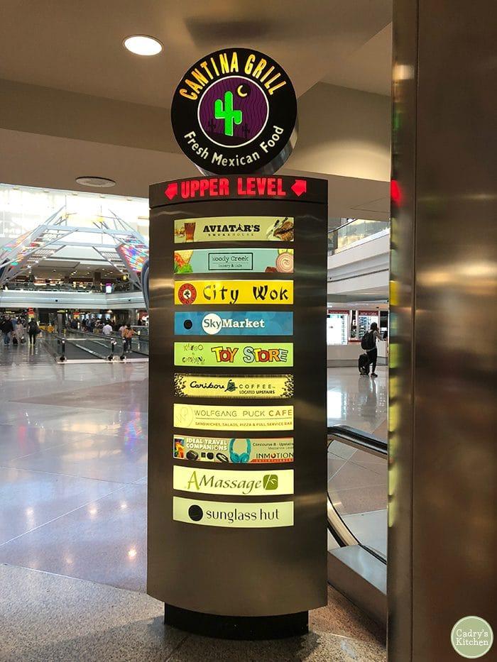 Cantina sign at Denver Airport.