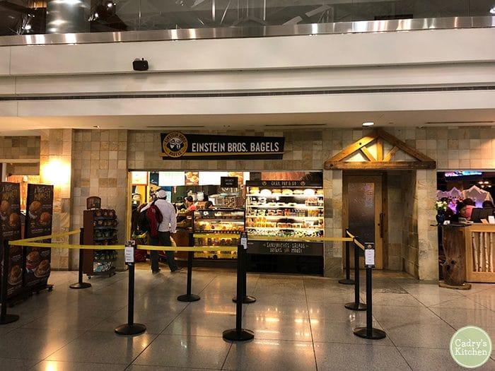 Einstein Bagels at Denver Airport.