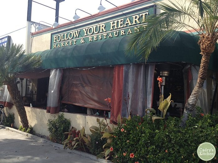 Exterior Follow Your Heart restaurant.