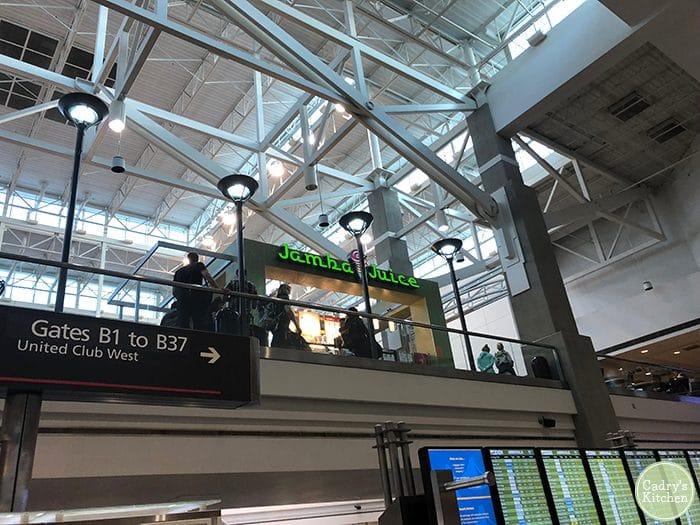 Jamba Juice at Denver Airport.