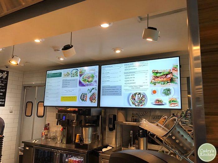 Modern Market menu at Denver Airport. Vegan options.