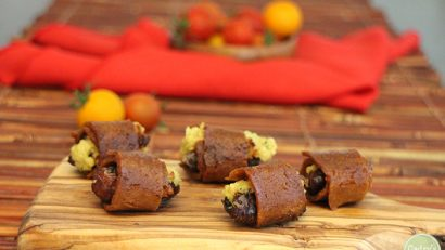 Vegan bacon wrapped dates with cashew cheese: A delicious appetizer for your next party | cadryskitchen.com