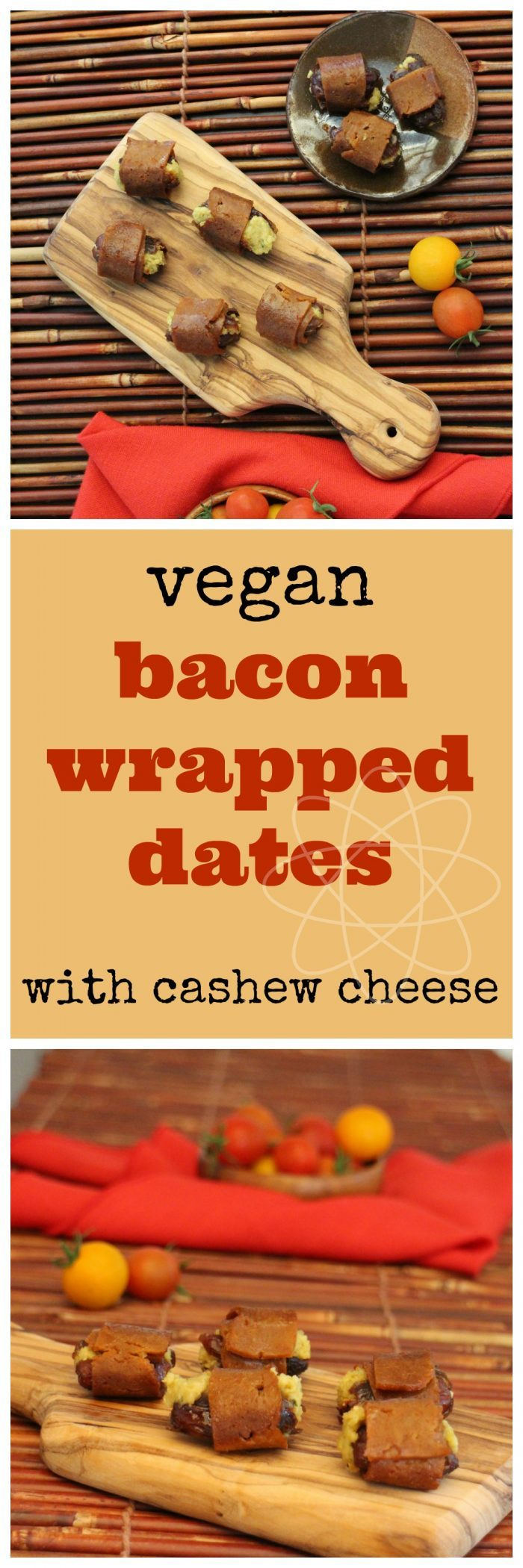 Vegan bacon wrapped dates with cashew cheese: A deliciously easy vegan appetizer | cadryskitchen.com