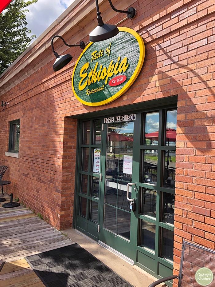 Exterior Taste of Ethiopia in Davenport.