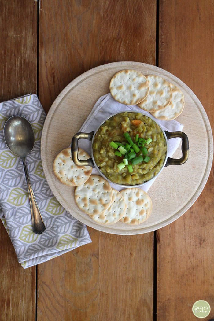 A classic! Homestyle split pea soup is homey, satisfying & delicious | cadryskitchen.com #vegan