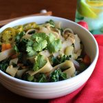 Noodle Stir Fry with Kale & Bell Peppers