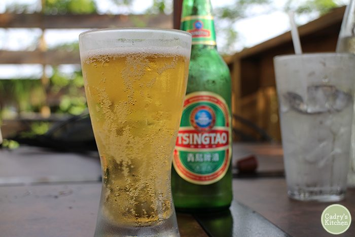 Tsingtao beer at Exotic Thai in Davenport, Iowa.