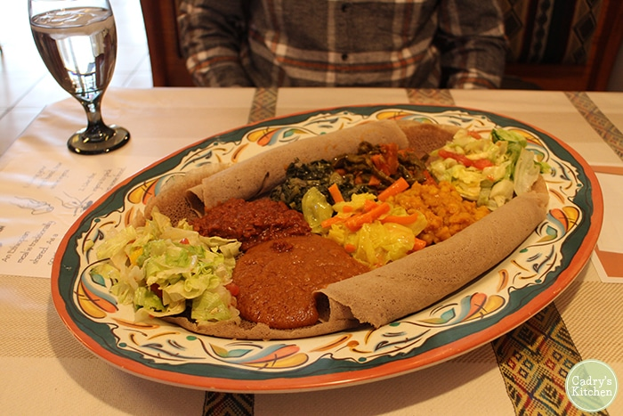 Ethiopian wots on injera at Nile in Coralville, Iowa.