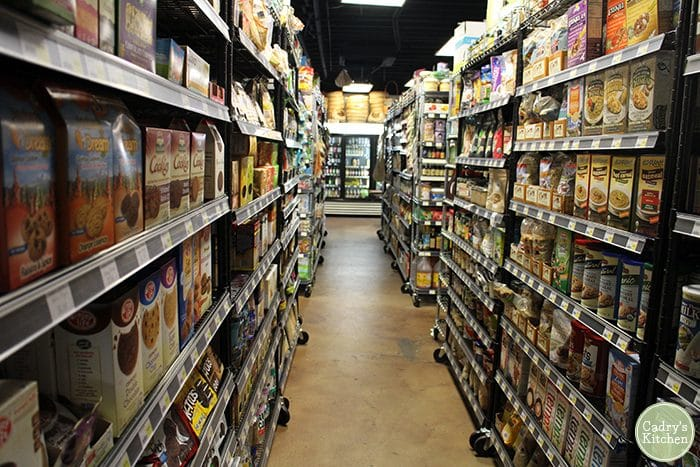 Vegan grocery store Viva La Vegan in California.