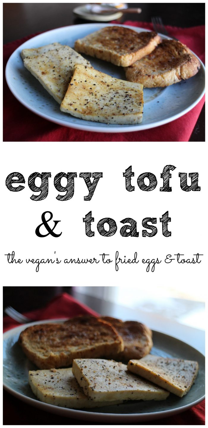 Vegan egg & toast makes for a 5 minute breakfast that will stick with you through lunch. The secret to eggy tofu is in kala namak (i.e. black salt). | cadryskitchen.com