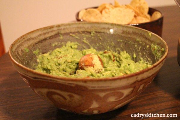Vegan Party Appetizer Menu - guacamole