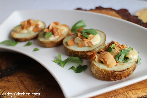 Vegan Appetizer Menu - Loaded Potato Slices