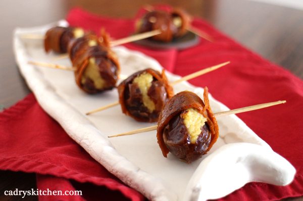 Seitan Bacon Wrapped Dates