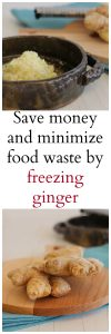 Minimize food waste and grocery costs by freezing ginger. You'll always have it on hand for recipes, without having to toss what's gone bad in the fridge. | cadryskitchen.com
