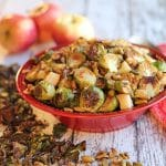 Roasted Brussels sprouts recipe with apples