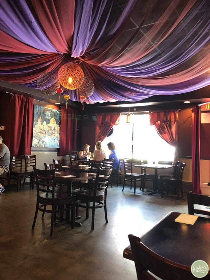 Interior Open Sesame in Des Moines East Village.