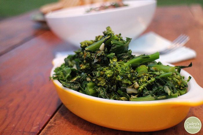 Sautéed broccolini & kale: An easy vegan side dish that's great for weeknights | cadryskitchen.com