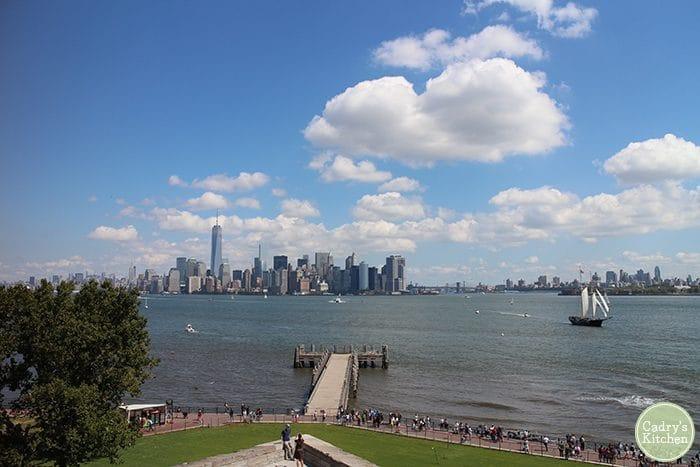 Manhattan skyline from Liberty Island.