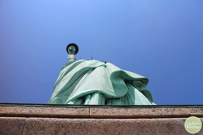 Pedestal and base of Statue of Liberty.