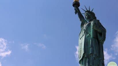 Statue of Liberty on Liberty Island.