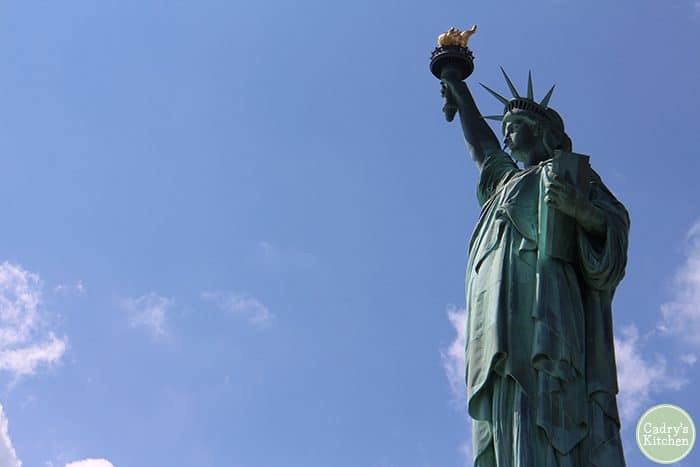 Statue of Liberty on Liberty Island.
