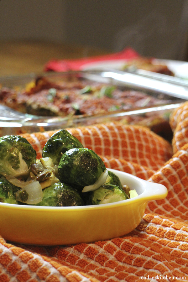 Roasted Brussels Sprouts with Caramelized Onions