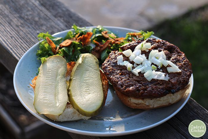 Field Roast burger review: A juicy, meaty vegan burger that can stand up to the grill.   cadryskitchen.com