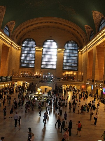 Interior Grand Central Station in New York City.
