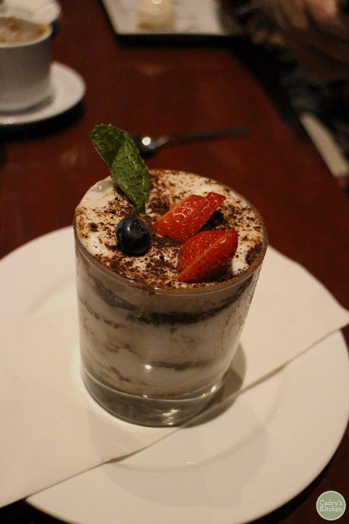 Vegan tiramisu at V Note in New York City.