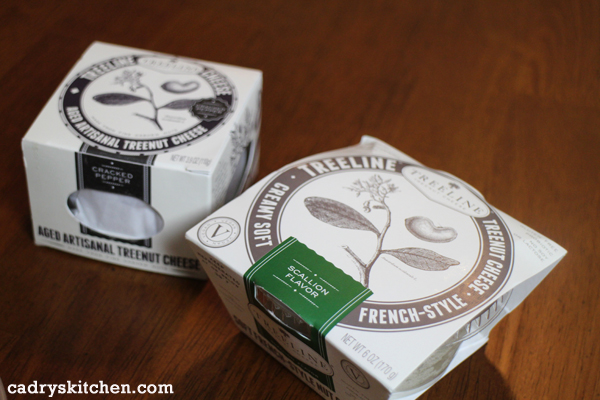 Treeline vegan cheese - scallion and black pepper