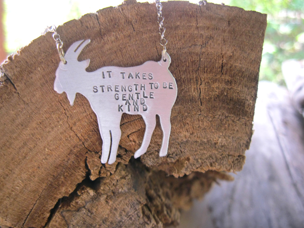 It takes strength to be gentle & kind - necklace by Christy Robinson