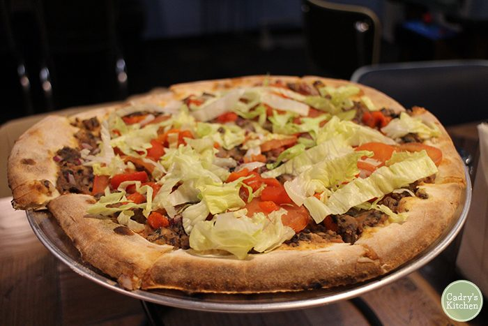 Forbidden Planet Pizzeria & Arcade: Vegan options in Iowa City, Iowa | cadryskitchen.com
