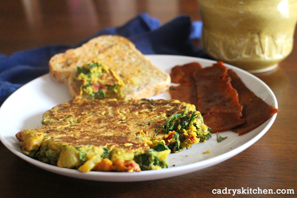 Chickpea Omelette from But I Could Never Go Vegan by Kristy Turner