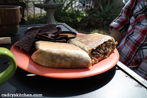 Black Bean Burrito at Dandelion Communitea Cafe - a vegetarian restaurant in Orlando, Florida